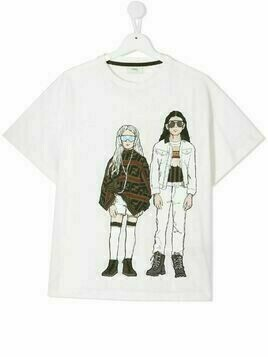 Fendi Kids TEEN graphic-print T-shirt - White