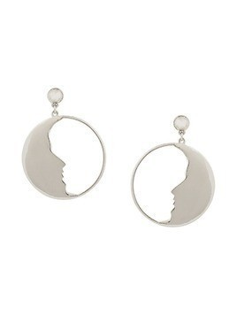Oscar de la Renta Small Moon hoop earrings - Metallic