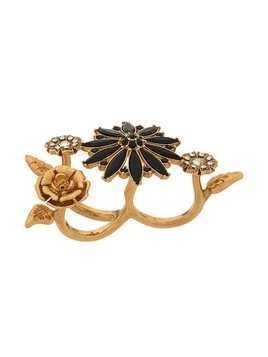 Versace V-Floral Garden double ring - Gold