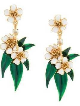 Oscar de la Renta Delicate Flower drop earrings - Metallic
