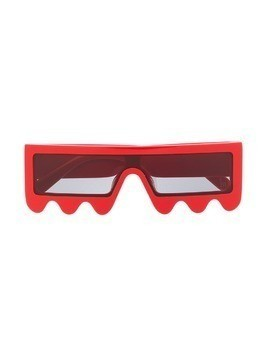 Stella McCartney Kids jagged square-frame sunglasses - Red
