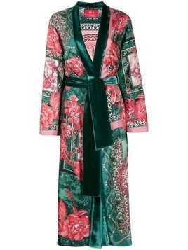 F.R.S For Restless Sleepers floral print robe coat - Green