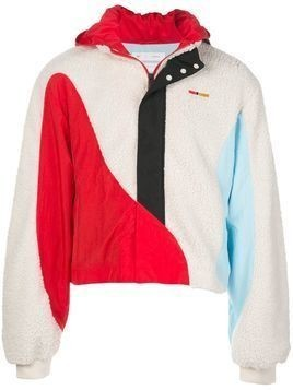 Reebok By Pyer Moss color-block hooded windbreaker - White