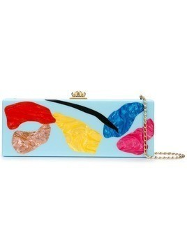 Edie Parker abstract print clutch - Blue