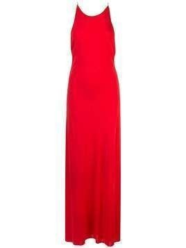 Rosetta Getty crossover strap maxi dress - Red