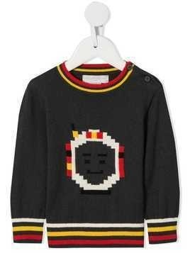 Stella McCartney Kids intarsia knit astronaut jumper - Grey