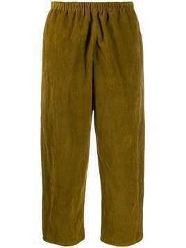 Apuntob plain cropped trousers - Green