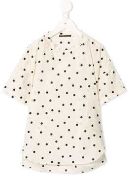 Fith dotted print top - White