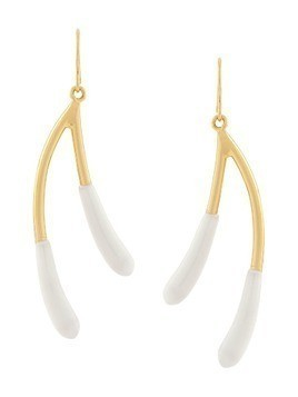 Marni wishbone earrings - Metallic