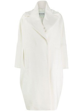 Ava Adore oversized double-breasted coat - White