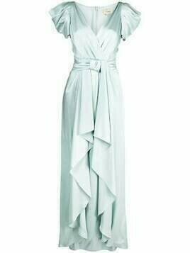 Temperley London Anita long silk-blend dress - Blue
