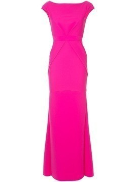 Greta Constantine Kigali cap-sleeve gown - Pink