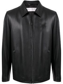 Gieves & Hawkes leather jacket - Black