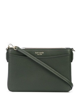 Kate Spade logo plaque crossbody bag - Green
