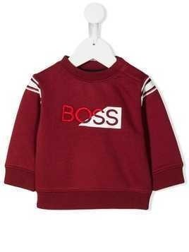 Boss Kids logo print sweatshirt - Red
