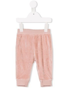 Stella Mccartney Kids embroidered ladybug trousers - Pink & Purple