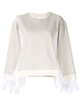 Koché panelled jersey sweater - White