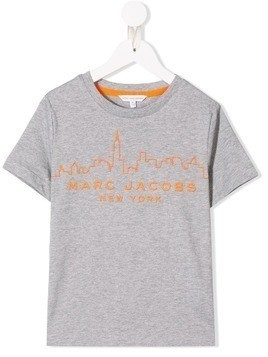 Little Marc Jacobs logo print T-shirt - Grey