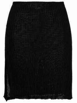 Laneus ribbed-knit mini skirt - Black