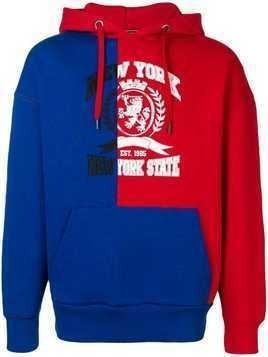 Hilfiger Collection two-tone hoodie - Blue