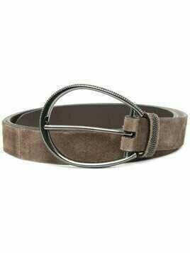 Brunello Cucinelli suede buckle belt - Brown