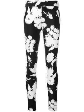 Ganni skinny fit floral trousers - Black