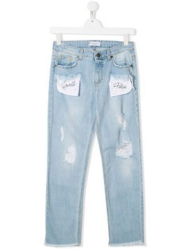 Gaelle Paris Kids distressed jeans - Blue