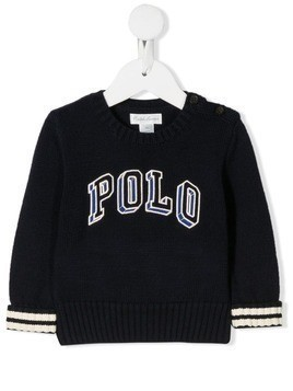 Ralph Lauren Kids logo embroidered sweater - Blue