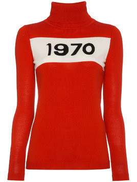 Bella Freud Wool Long Sleeve 1970 Sweater - Red
