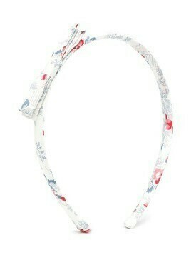 Bonpoint bow floral hair band - PINK