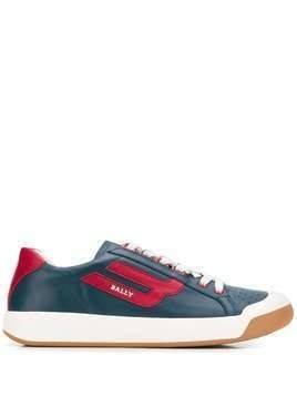 Bally leather logo sneakers - Blue