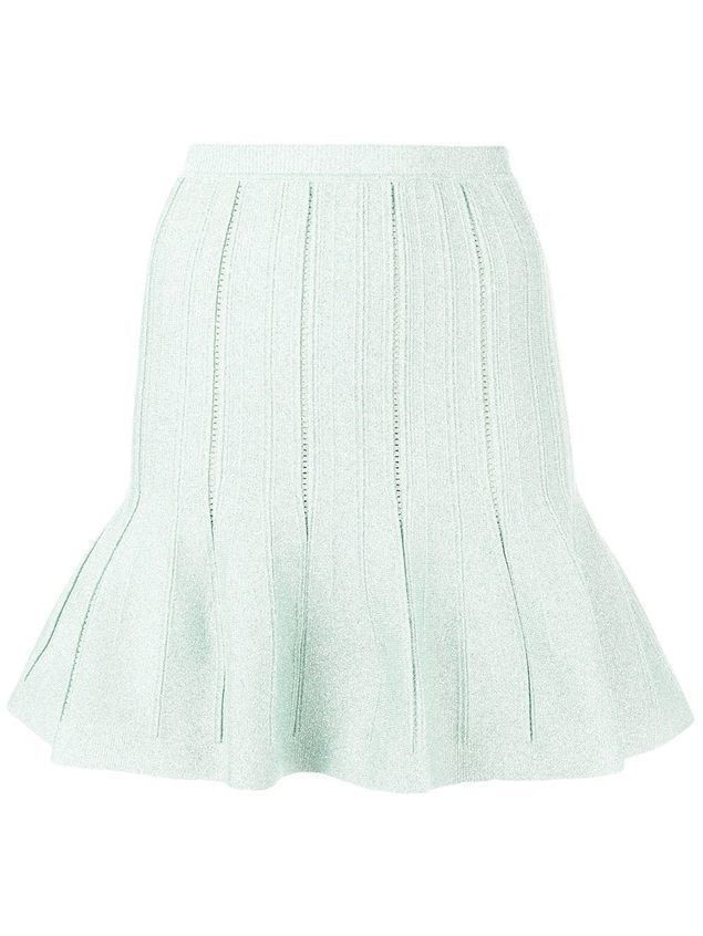 Alberta Ferretti flared short skirt - Green