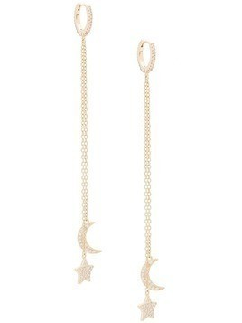 Federica Tosi moon and star earrings - Gold