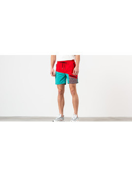 Aimé Leon Dore Zipper Pocket Shorts Mineral Red/ Tropical Green