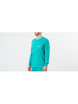Aimé Leon Dore Longsleeve Ribbed Collar Tee Tropical Green