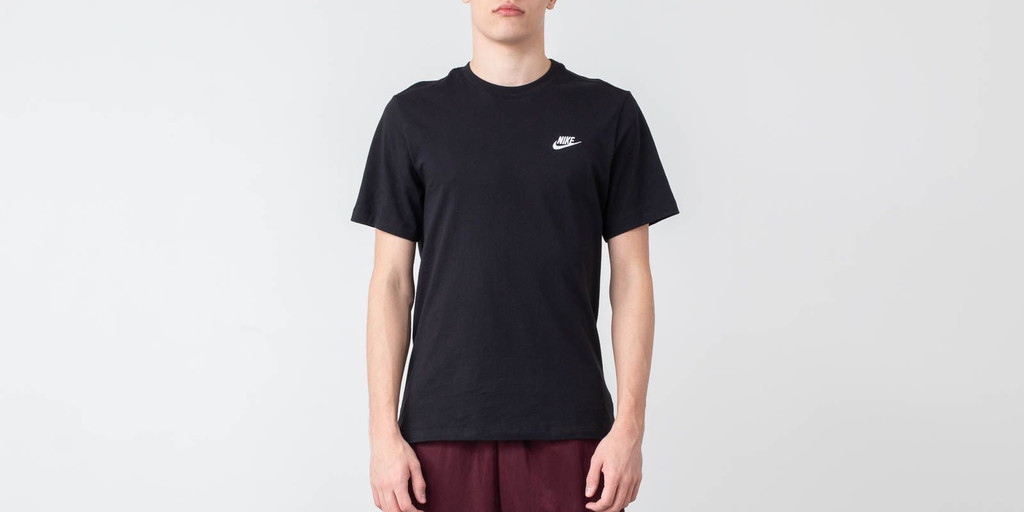 Nike Sportswear Club Tee Black/ White