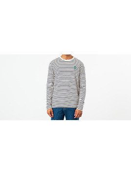 WOOD WOOD Mel Long Sleeve Tee Off White/ Navy Stripes