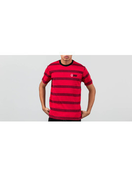 HUF x Spitfire Striped Knit Shirt Red