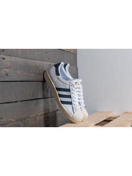 adidas Superstar 80s Ftw White/ Trace Blue/ Grey Two