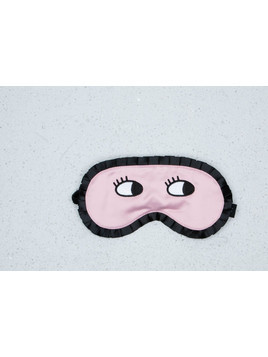 Lazy Oaf Eyes Wide Shut Mask Pink/ Black