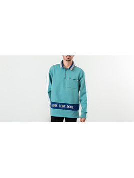 Aimé Leon Dore Ribbed Collar Quarter Zip Pullover Teal