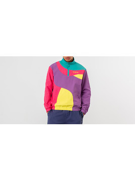 Aimé Leon Dore Colour Blocked Nylon Pullover Jacket Purple Tape Combo