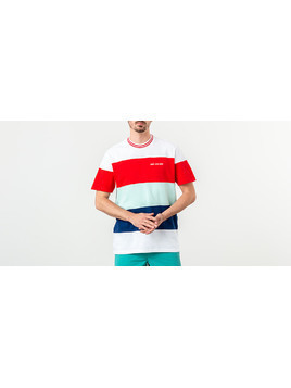 Aimé Leon Dore Striped Ribbed Collar Tee White