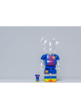 Medicom Toy Bearbrick FC Barcelona 100% & 400% Set