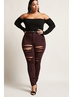 Plus Size High-Waisted Jeans