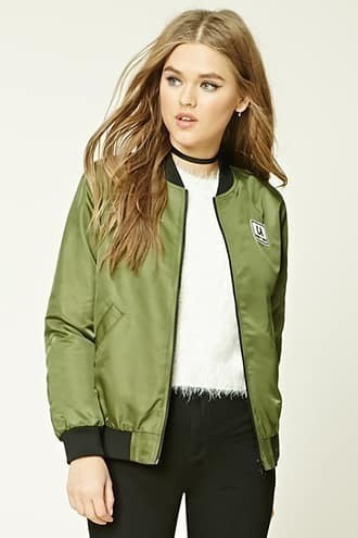 Patch Graphic Bomber Jacket