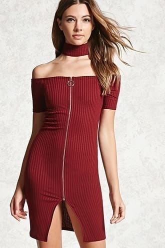Contemporary Choker Mini Dress