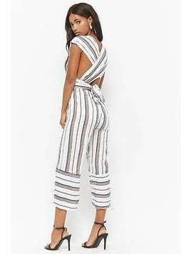 Striped Convertible Jumpsuit