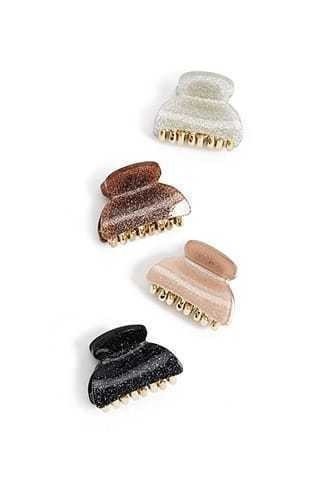 Glitter Mini Hair Clip Set