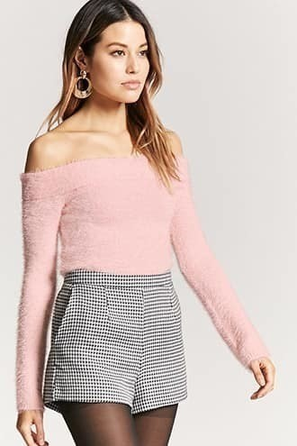 Fuzzy Knit Crop Sweater